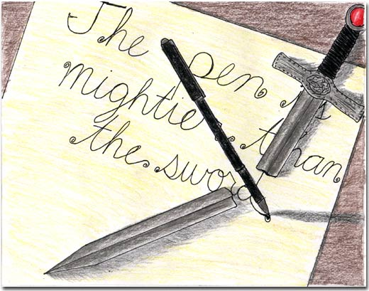 The pen is mightier than the sword essay