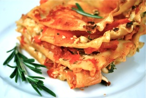 red-pepper-chevre-lasagna